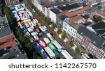 aerial picture of market... | Shutterstock . vector #1142267570