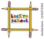 hand drawn vector doodle back... | Shutterstock .eps vector #1142272343