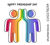 happy friendship day greeting... | Shutterstock .eps vector #1142278259