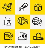 research icons | Shutterstock .eps vector #114228394
