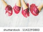 ice cream. fresh summer dessert.... | Shutterstock . vector #1142293883