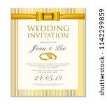 wedding invitation design... | Shutterstock .eps vector #1142299859