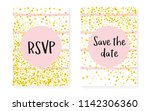 bridal shower card with dots... | Shutterstock .eps vector #1142306360