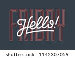 hello. lettering for banner ... | Shutterstock .eps vector #1142307059