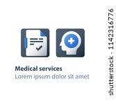 head problem  brain disease ... | Shutterstock .eps vector #1142316776