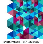 multicolored triangles abstract ... | Shutterstock .eps vector #1142321009