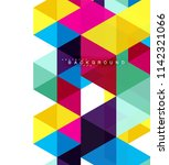 multicolored triangles abstract ...   Shutterstock .eps vector #1142321066