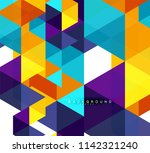 multicolored triangles abstract ...   Shutterstock .eps vector #1142321240