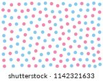 baby blue and pink dots over... | Shutterstock .eps vector #1142321633