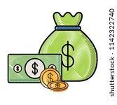 money sack design  | Shutterstock .eps vector #1142322740