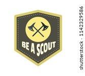 be a scout axe logo. flat...   Shutterstock .eps vector #1142329586