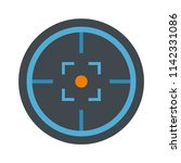 modern gun target icon. flat... | Shutterstock .eps vector #1142331086
