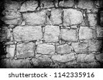 gray stone wall as a background ... | Shutterstock . vector #1142335916
