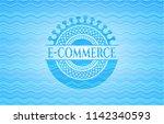 e commerce sky blue water wave... | Shutterstock .eps vector #1142340593