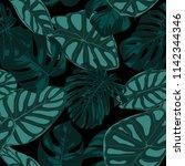vector tropic seamless pattern. ... | Shutterstock .eps vector #1142344346