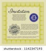 yellow vintage invitation...   Shutterstock .eps vector #1142347193
