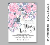 floral wedding invitation... | Shutterstock .eps vector #1142351336