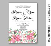 floral wedding invitation... | Shutterstock .eps vector #1142351399