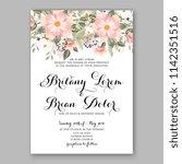 floral wedding invitation... | Shutterstock .eps vector #1142351516
