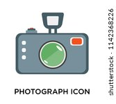photograph icon vector isolated ... | Shutterstock .eps vector #1142368226