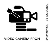 video camera from side view... | Shutterstock .eps vector #1142370803