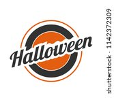 halloween circled vector banner ... | Shutterstock .eps vector #1142372309