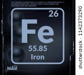 iron symbol.chemical element of ... | Shutterstock .eps vector #1142373290