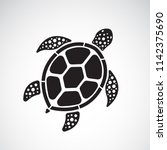 vector of turtle design on a... | Shutterstock .eps vector #1142375690