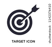 target icon vector isolated on... | Shutterstock .eps vector #1142376410
