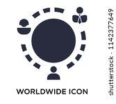 worldwide icon vector isolated... | Shutterstock .eps vector #1142377649
