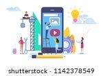 developer create application.... | Shutterstock .eps vector #1142378549