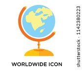 worldwide icon vector isolated... | Shutterstock .eps vector #1142380223