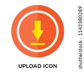 upload icon vector isolated on... | Shutterstock .eps vector #1142380289