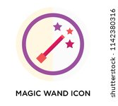 magic wand icon vector isolated ... | Shutterstock .eps vector #1142380316
