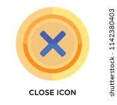 close icon vector isolated on... | Shutterstock .eps vector #1142380403