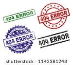 404 error seal prints with...   Shutterstock .eps vector #1142381243