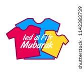 ied al fitr mubarak for muslim... | Shutterstock .eps vector #1142383739