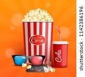 cinema. banner. vector... | Shutterstock .eps vector #1142386196
