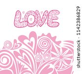 love. vector illustration | Shutterstock .eps vector #1142386829