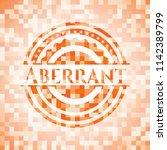 aberrant orange mosaic emblem...   Shutterstock .eps vector #1142389799
