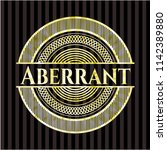aberrant gold shiny emblem   Shutterstock .eps vector #1142389880