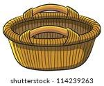 fruit basket | Shutterstock .eps vector #114239263