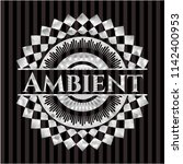 ambient silvery badge | Shutterstock .eps vector #1142400953