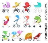 stroller vector childish buggy...   Shutterstock .eps vector #1142403296