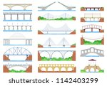 bridge vector urban crossover... | Shutterstock .eps vector #1142403299