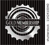 gold membership silver badge or ... | Shutterstock .eps vector #1142410040