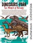 dinosaurs adventure park banner ... | Shutterstock .eps vector #1142410166