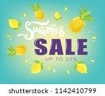hand sketched summer sale...   Shutterstock .eps vector #1142410799