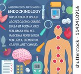 endocrinology medicine and... | Shutterstock .eps vector #1142410916