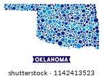 network oklahoma state map... | Shutterstock .eps vector #1142413523